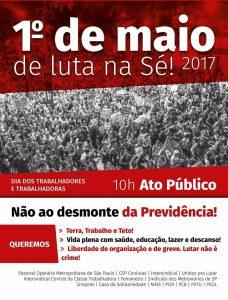 CSP-Conlutas participa do 1º de Maio de Luta na Praça da Sé