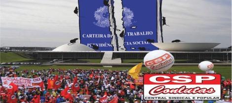 CSP-Conlutas organiza caravanas para o #OcupeBrasília dia 24 contra as reformas trabalhista e previdenciária