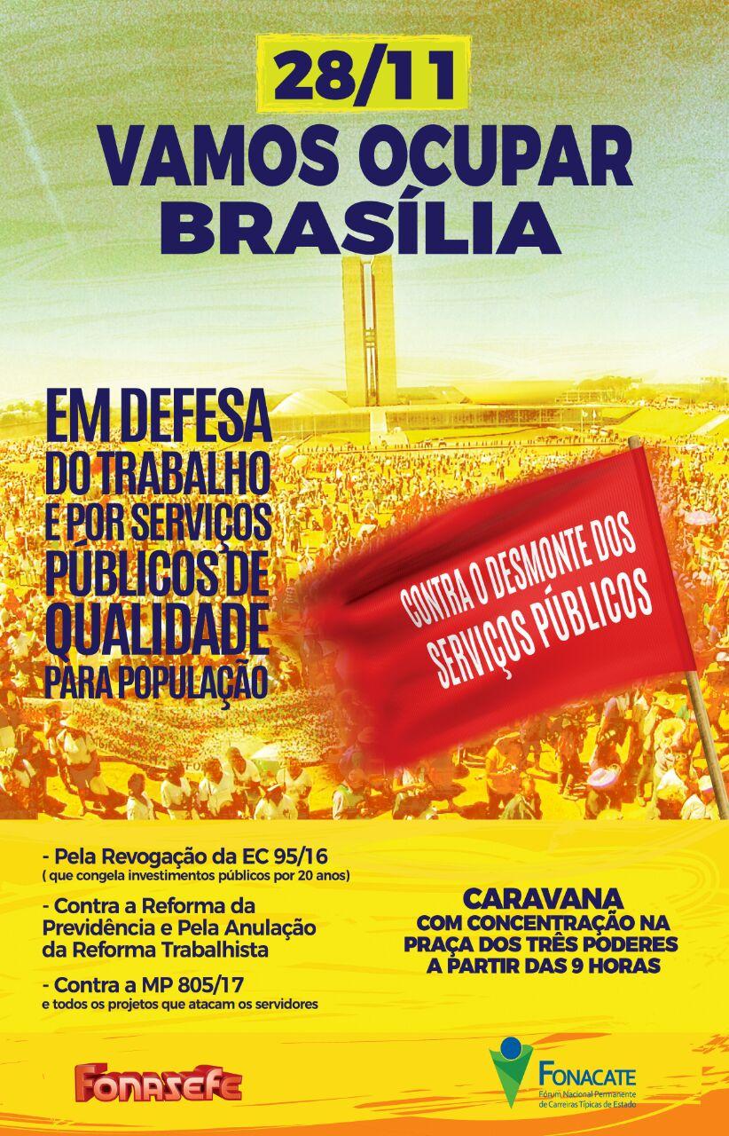 Servidores públicos organizam caravana a Brasília dia 28 e articulam protestos contra as reformas de Temer